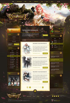 Mu Online Forest Game Website Template
