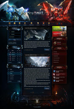 Mu Online New Level Game Website Template