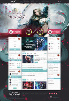 Mu Online New Wave Game Website Template