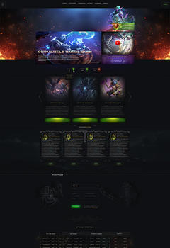 WoW Darkness Game Website Template